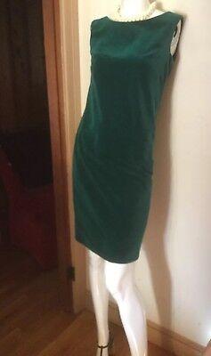 """60s Dresses For Girls (VTG 60s PAT RICHARDS EMERALD VELVET WIGGLE SHEATH """"for The Girl Who)"""