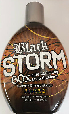 Bronzer Indoor Tanning Lotion (BLACK STORM 60X BRONZER Indoor Outdoor Tanning Bed Lotion by Millennium Tan)