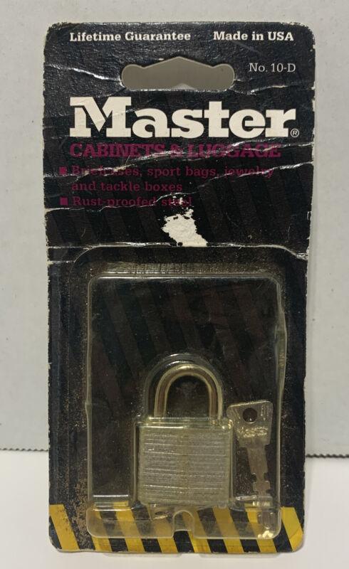 MASTER LOCK 10D Padlock - new mini padlock with 2 keys