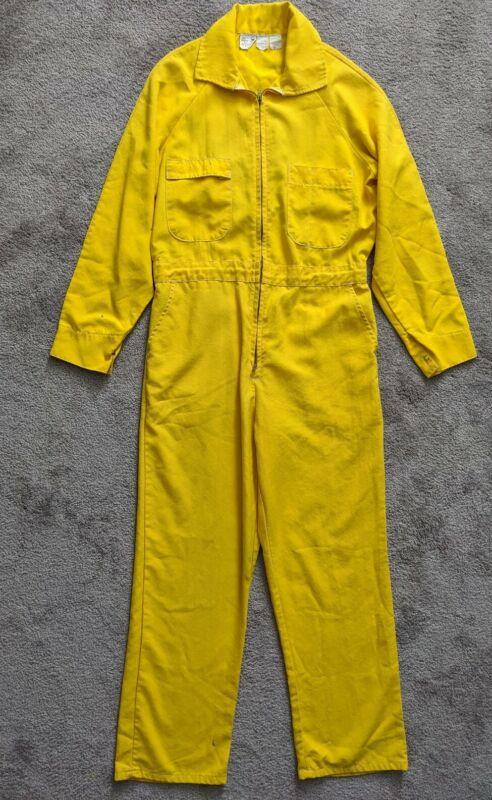 Vintage Nomex Jumpsuit Medium Yellow Wildland Firefighting Fire BIA BLM NPS USFS