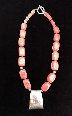 Vintage Silpada Sterling Silver Pendant, Cherry Crystal Bead Necklace - Gorgeous ()