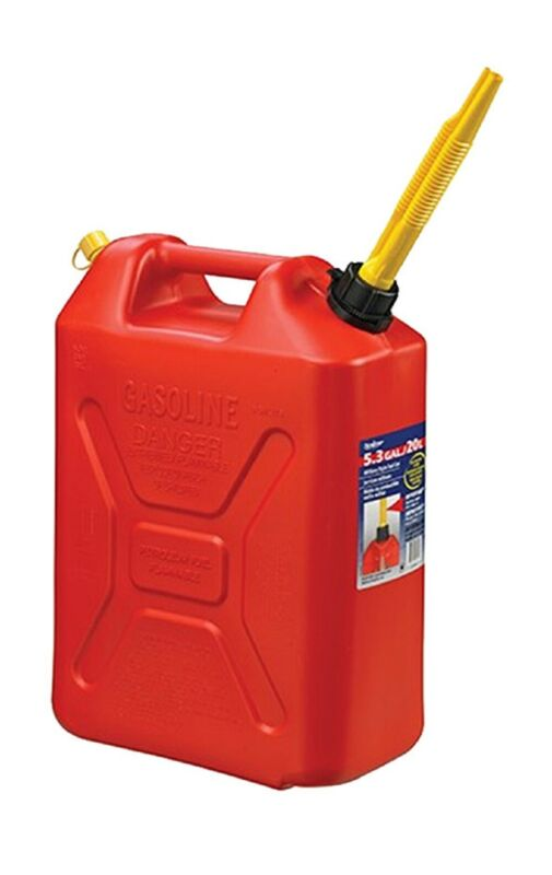 Scepter 3609 Jerry Gas Can, 20 Liter Capacity, Red