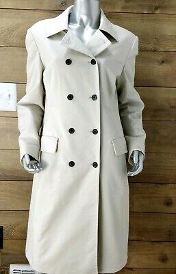BROOKS BROTHERS Size 10 Double Breasted 100% Silk Lining Pockets Trench Coat  Double Breasted Silk Coat