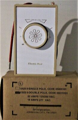 New Tpi Corp. Wall Mountthermostat-double Pole 120240 Volts 22 Amps