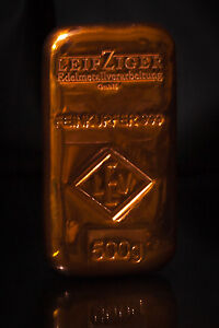 Edelmetall-Alternative: KUPFER BARREN copper ingots-Gold Silber Platin Palladium