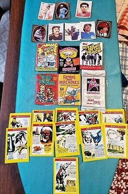 VTG Donruss Tacky Tattoos Wax Pack,Fiend Machines,Star Trek, Ripleys Cards, MORE