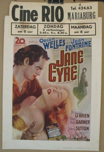 JANE EYRE (1944) Original Release Belgian Poster, Orson Welles, Joan Fontaine