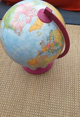 New Zoffoli Geographica Desk Top Large World Globe Purple Stand Italian Quality