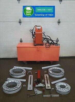 Gb Enerpac Mini-eegor Hydraulic Pipe Imc Rigid Emt Bender 1 - 2 Electric Pump