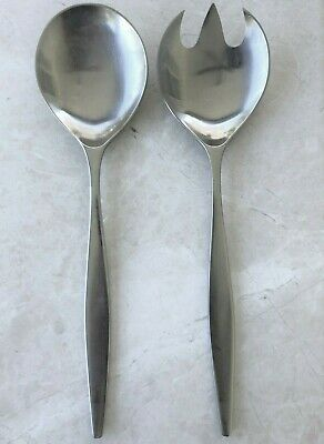Towle Lauffer Norway VANTAGE Stainless Steel Salad Serving Set (Spoon/Fork) EUC