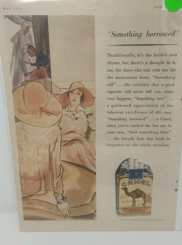 Vintage Antique 1930 Camel Cigarettes Advertisement