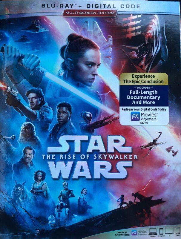 Star Wars The Rise of Skywalker (Blu-ray & Digital) W/Slipcover Brand NEW