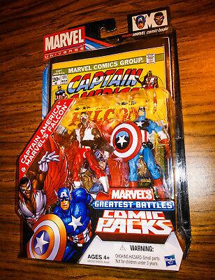 Marvel Universe CAPTAIN AMERICA and FALCON! Greatest Battles Comic Packs! Hasbro