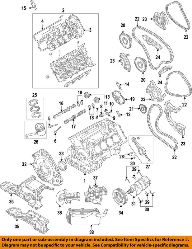 Audi Oem 13-17 A8 Quattro-engine Cylinder Head 079103063dd