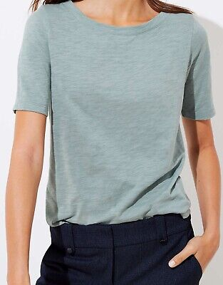 Ann Taylor LOFT Cotton Ballet Neck Tee Top Various Colors and Sizes NWT
