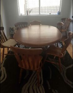 Extendable Dining Room Table With 6 Chairs Dining Tables Gumtree Australia Wyong Area Summerland Point 1258155259