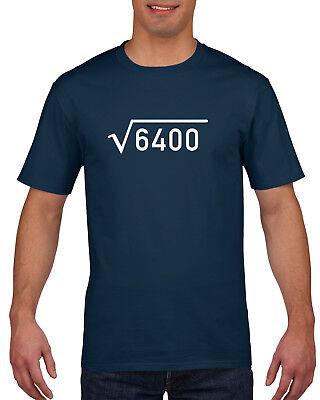 80th Birthday Gift Present Idea For Boys Dad Him & Men T Shirt 80 Tee Shirts  - Ideas For 80 Birthday