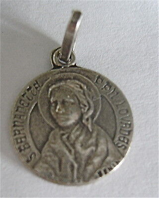 Medal Antique, Silver, Sainte Bernadette, Signed Penin