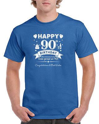 90th Birthday Gift Present Idea For Boys Dad Him Men T Shirt 90 Tee Shirt - Gift Ideas For 90th Birthday