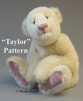 "Mohair/Plush ""Taylor""  Artist Teddy Bear PATTERN  Neysa Phillippi  Purely Neysa"