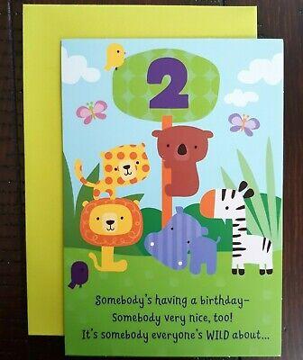 2ND HAPPY BIRTHDAY CARD - Hallmark Greeting Card - Somebody's having a birthday