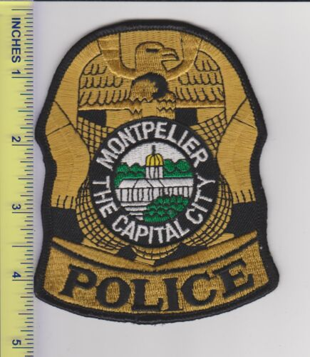 US Police Patch Montpelier Vermont Police Department Capital City