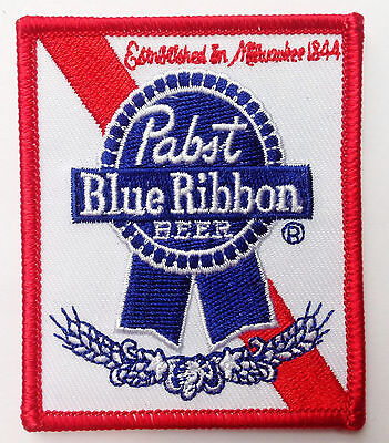 PABST Blue Ribbon Beer  EMBROIDERED JACKET VEST 3 inch PATCH
