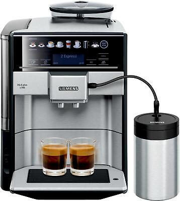 Siemens TE657M03DE EQ.6 series 700 Kaffeevollautomat, 19bar, Display, edelstahl