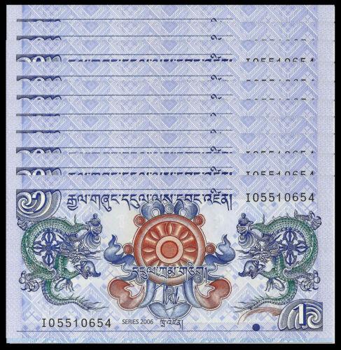 BHUTAN 1 NGULTRUM 2006 P 27 UNC (10 PCS)
