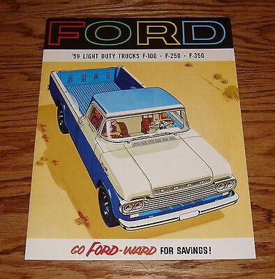 Ford Light Duty Truck (1959 Ford Light Duty Truck F-100 F-250 F-350 Sales Brochure)