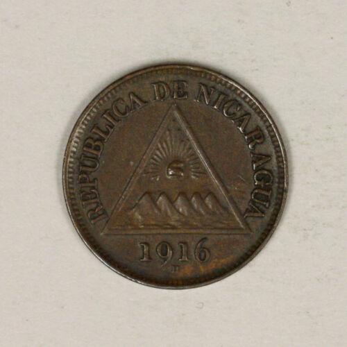 Nicaragua 1916 H 1/2 half Centavo Dark UNC