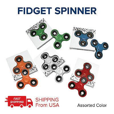 LOT 50 TRI FIDGET HAND SPINNER FIGET ADULT KIDS TOY EDC FIDGETS WHOLESALE USA - Adult Toys Wholesale