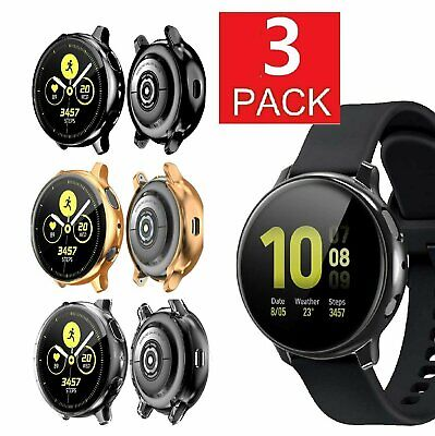 3 Pack For Galaxy Watch Active 2 40mm/44mm Screen Protector Case Cover Bumper Cell Phones & Accessories