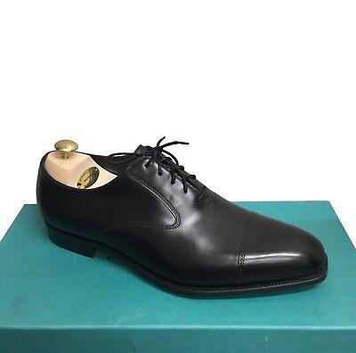 1 390 Edward Green Black Fawsley Cap Toe Balmoral Shoes 7 5   8   Trees