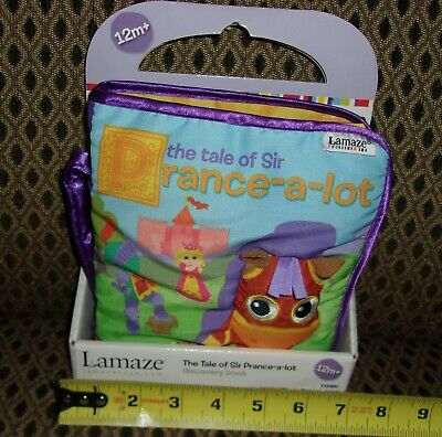 Sir Prance-a-Lot soft cloth book Lamaze stage 1 Learning Curve Brand NEW/PACK 1+
