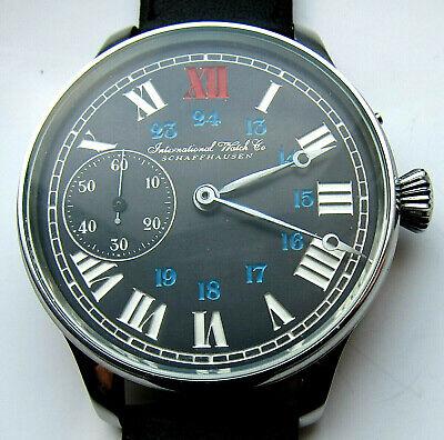 International watch co SCHAFFHAUSEN wristwatch steel case, glass back cover, IWC