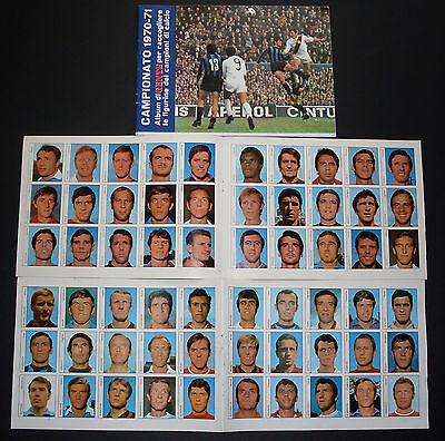 ALBUM FIGURINE GENTE CAMPIONATO CALCIO 1970/71 VUOTO + 2 DOPPI FOGLI FOTOGRAFIE