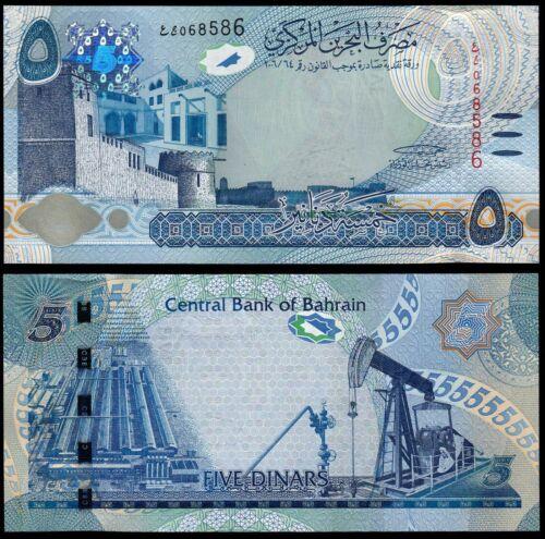 BAHRAIN 5 DINARS (P32) L. 2006 (2016) UNC