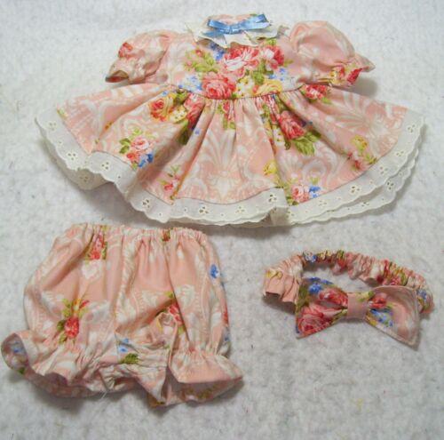 MY CHILD  FLOWERS ON PEACH DRESS, PANTIES,  & HEADBAND
