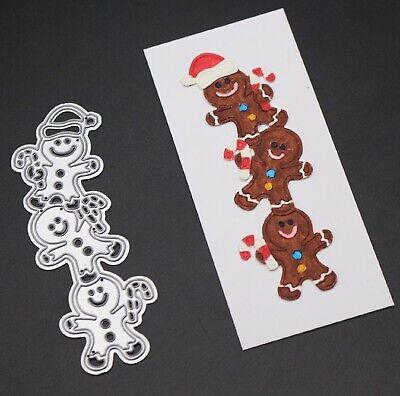 Metal die  Scrapbooking Card  Gingerbread man Christmas Tree topper ()