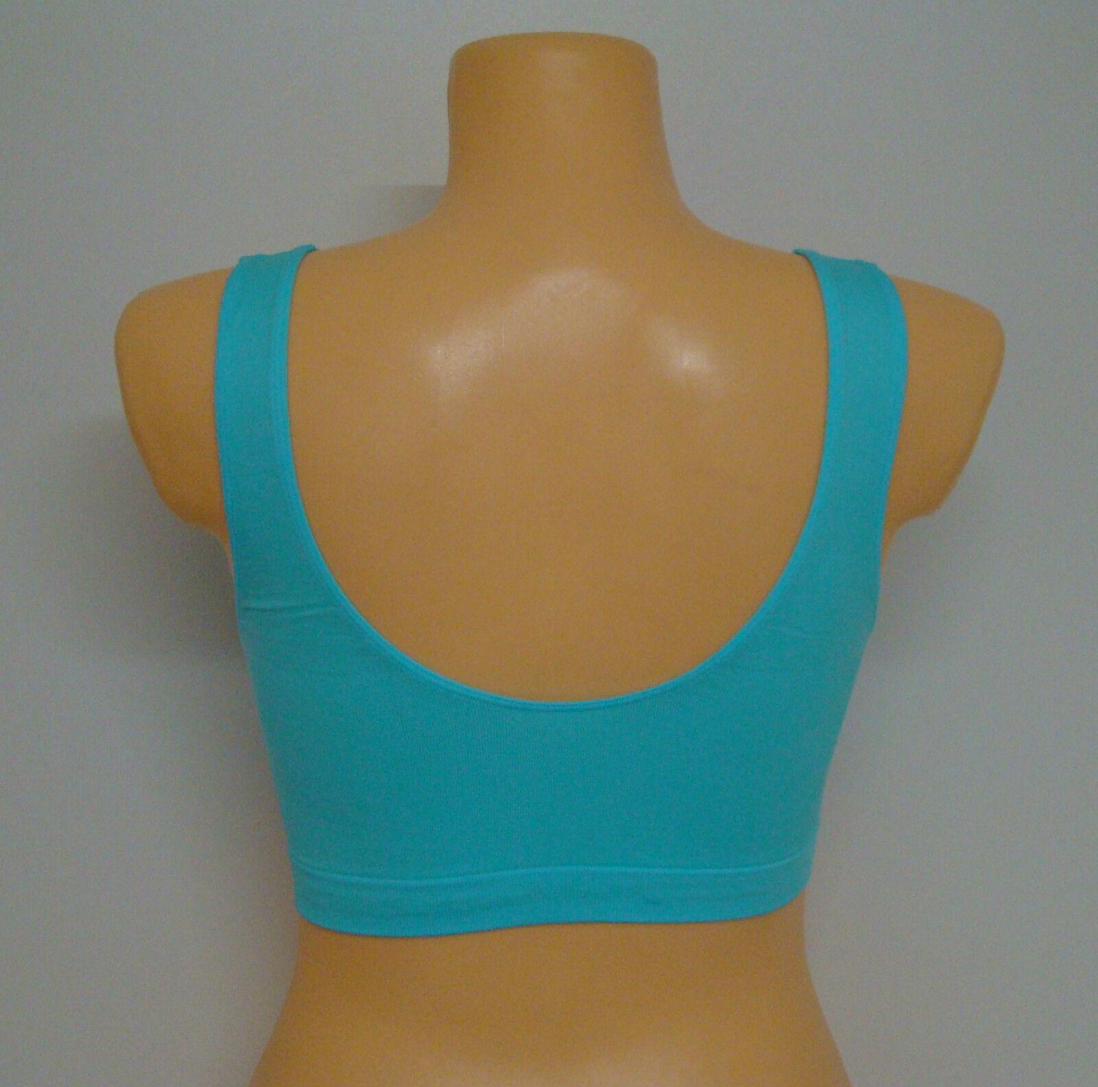 Mikrofaser-Bustier Fitness Yoga 6 Farben zur Auswahl Gr S / M /L 34 bis Größe 44