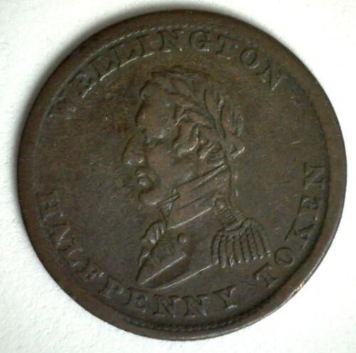 1814 Canada Wellington Half Penny Token Copper