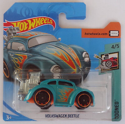 Hot Wheels - VW Volkswagen Beetle hot rod flames dragster - HW Tooned - MOC