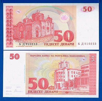 Macedonia P-11 50 Denari Year 1993 Orthodox Church Uncirculated Banknote