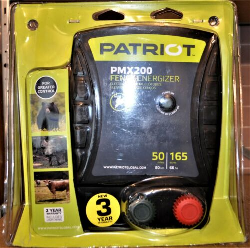 Patriot PMX200 Fence Energizer 165-Acres 2.0-Joule - NEW