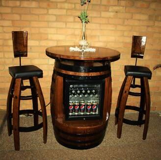 Barrel Bar Fridge Cabinet