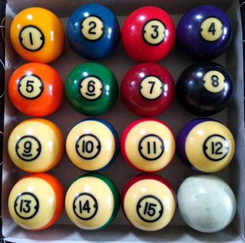 "Vintage Brunswick Centennial 2 1/4"" Pool Billiard Pocket Balls Set"
