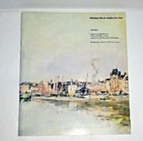 William Doyle Auction Catalogue Important Old Master 19th 20th Century Painting