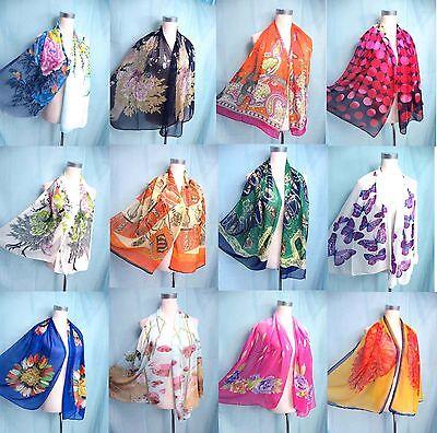 *US Seller*lot of 5 wholesale chiffon scarf wrap shawl women gifts bulk lot