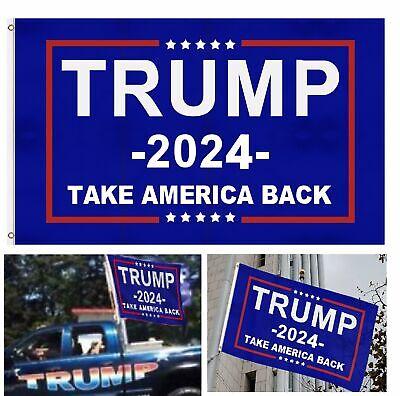 Trump 2024 President Flag Take America Back  3×5 Feet Donald MAGA Republican Décor